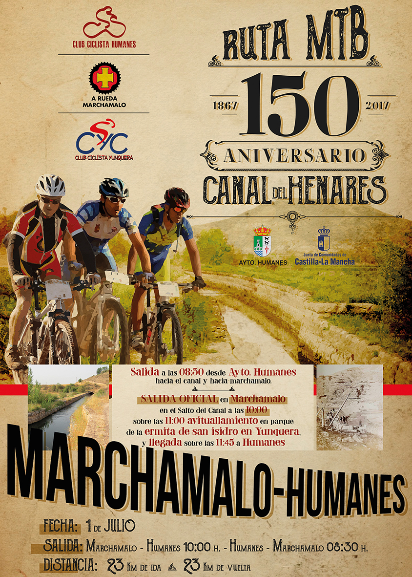 Ruta MTB entre Humanes y Marchamalo para celebrar los 150 años del Canal