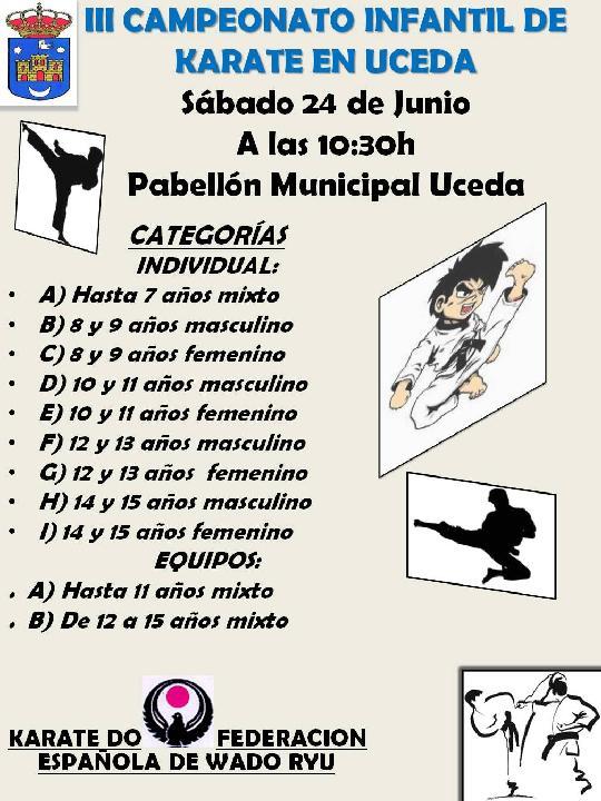 III Campeonato de Kárate infantil en Uceda