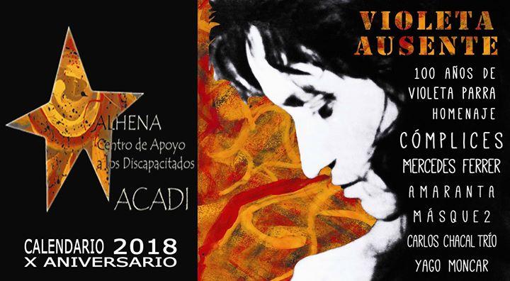 Concierto Violeta Ausente – Presentación Calendario ACADI 2018