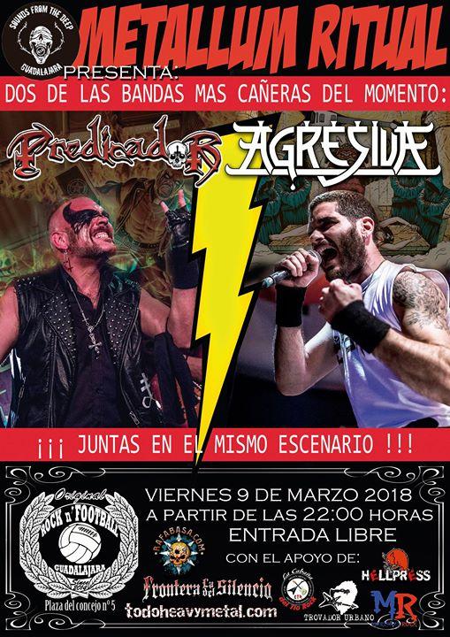 Metallum Ritual: Agresiva + Predicador, Guadalajara.