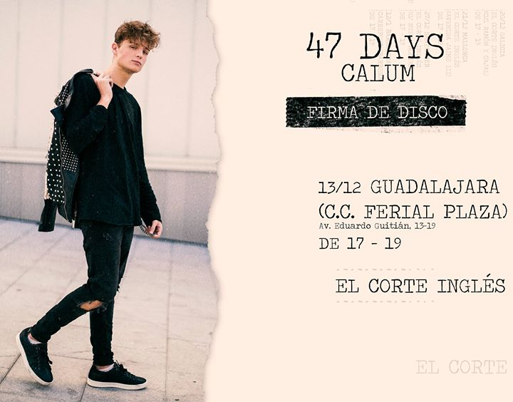 Firma Discos Calum, 47 days, Guadalajara