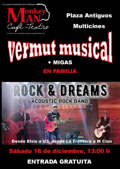 Vermut musical + migas Café Teatro Monkey Man