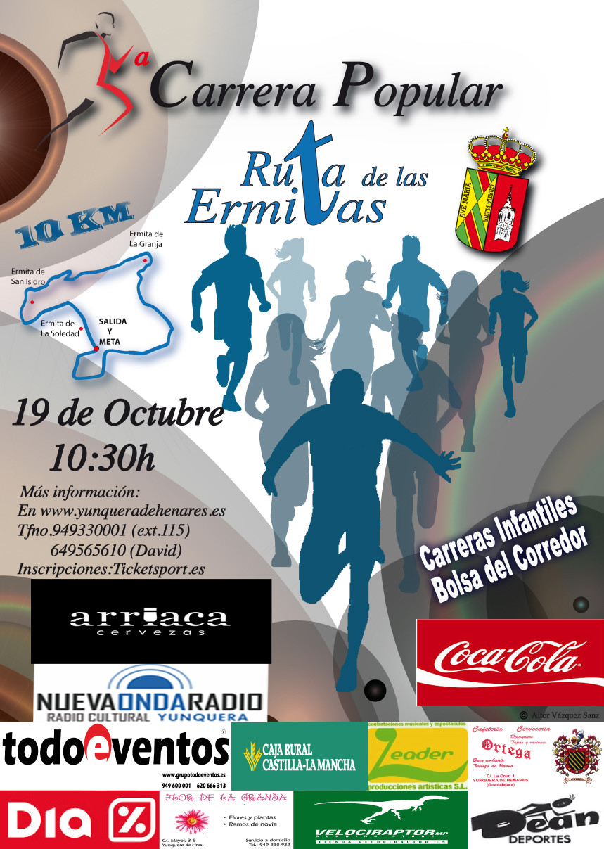 cartel carrera popular 2014 yunquera