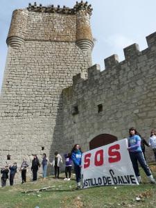 Concentración en el castillo de Galve el pasado 11 de octubre. Foto de Enrique Palacio