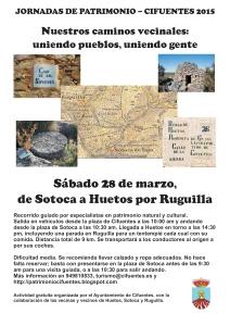 Cartel camino Sotoca-Ruguilla-Huetos 28marzo2015