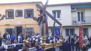 El paso del Nazareno llegando a la parroquia