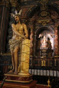 La bendición de la nueva imagen de la Flagelación de Jesús preludia la Semana Santa seguntina