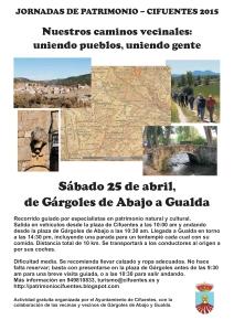 Cartel camino Gárgoles-Gualda 25abril2015