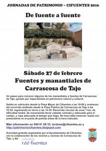 Cartel fuentes Carrascosa 27febrero2016