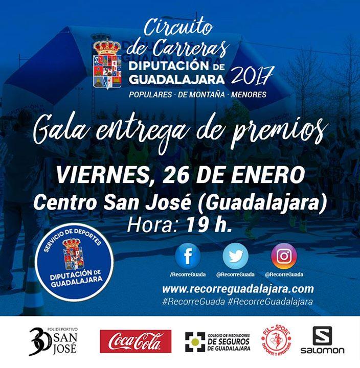 Gala entrega de premios de Circuitos de Carreras Provinciales