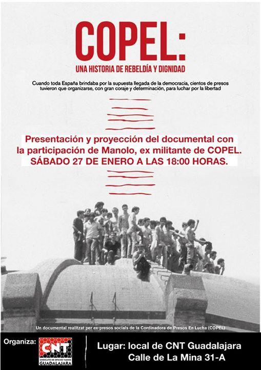 """Proyección de """"copel: Una Historia De Rebeldía Y Dignidad"""""""