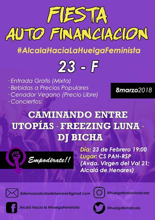 Fiesta mixta de autofinanciación #AlcaláHaciaLaHuelgaFeminista
