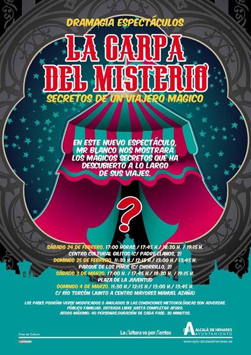 Espectáculo de magia. Estreno en Alcalá de Henares, Madrid