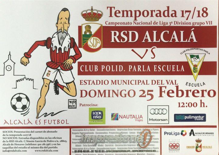 Partido RSD Alcalá vs Parla Escuela