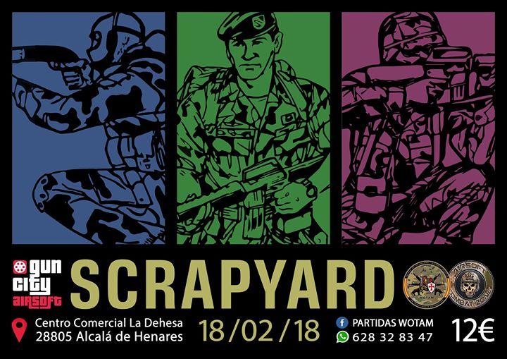 Scrapyard, Domingo 18/02/18 GunCity – CQB