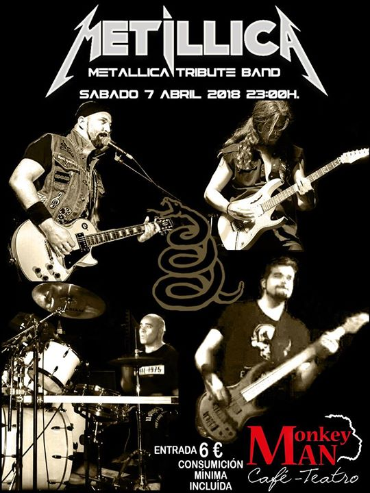 Metíllica (Metallica Tribute Band) en concierto Café Teatro Monkey Man
