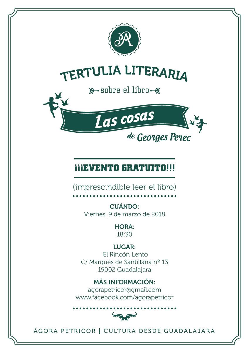 """Tertulia sobre el libro """"Las cosas"""" de Georges Perec."""