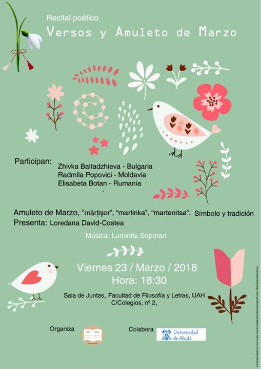 """Recital Poético: """"Versos y Amuleto de Marzo"""""""