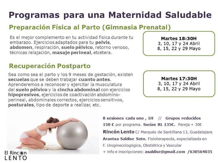 Preparacion al parto y recuperación postparto