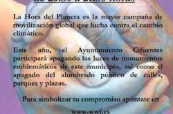 Cifuentes se suma el sábado 24 de marzo a la Hora del Planeta