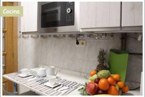 cocina 1 apartamento turístico la cañada
