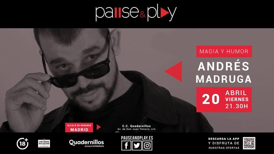 ¡Magia y humor con Andrés Madruga! – Pause&Play Quadernillos