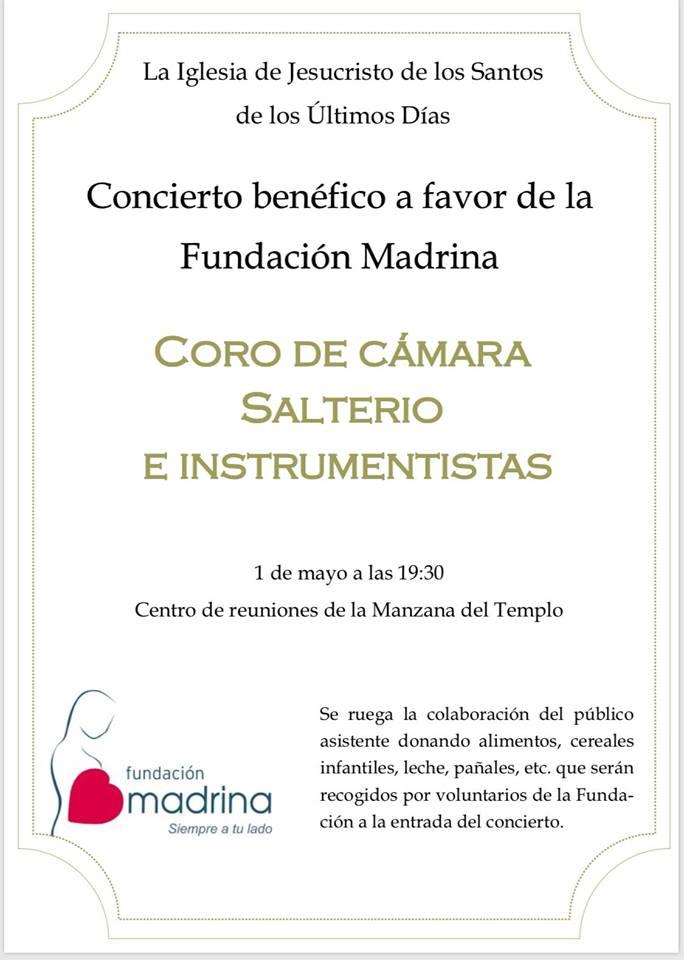 Concierto benéfico a favor de la Fundación Madrina