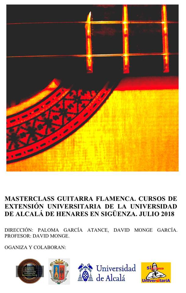 Masterclass Guitarra Flamenca, Julio 2018 Sigüenza