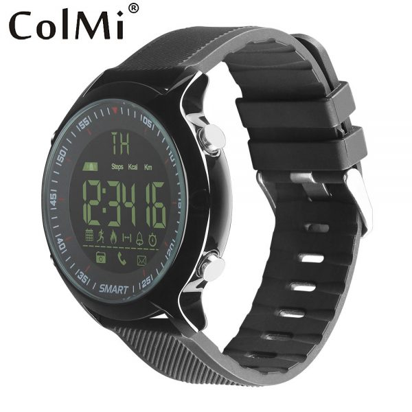 34f79e10d832 ColMi 5ATM Reloj Inteligente A Prueba de Agua IP68 Pasómetro Mensaje  Recordatorio Ultra-larga Espera Xwatch Smartwatch Natación Deporte Al Aire  Libre