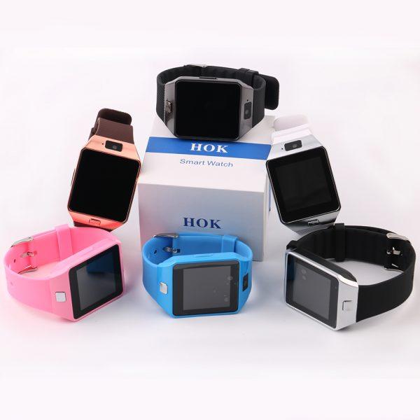 9869f6083 HOK reloj inteligente DZ09 apoyo SIM TF tarjetas para android IOS teléfono  Cámara niños mujeres reloj Bluetooth ...