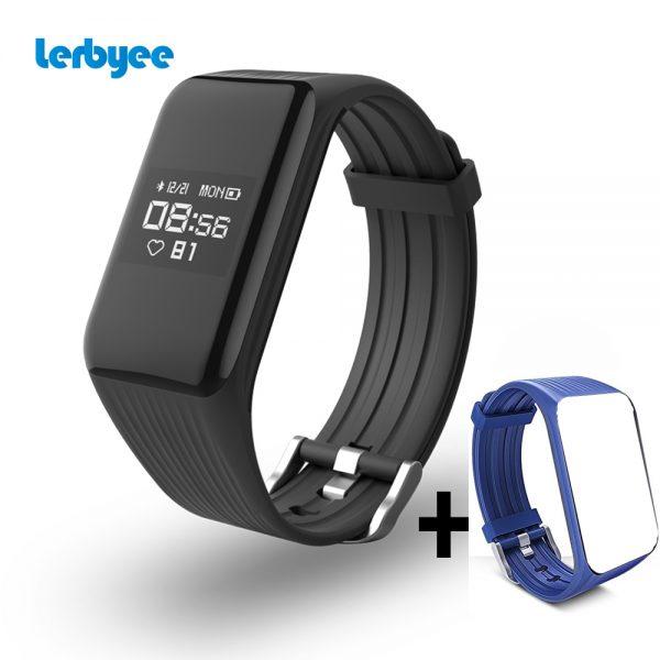 aaf0320c92e7 Lerbyee Fitness Tracker K1 pulsera inteligente en tiempo Real ...
