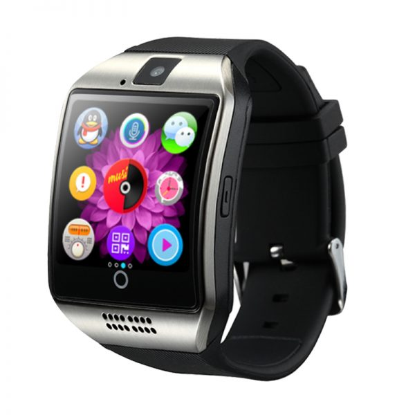 c92c898c9 2017 MTK6261 reloj inteligente Q18 con SIM y TF tarjeta push mensaje Cámara  Bluetooth conectividad teléfono Android mejor que DZ09 A1