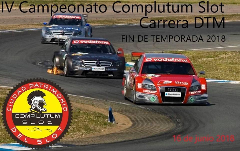 Carrera DTM Final de temporada. IV Campeonato Complutum Slot