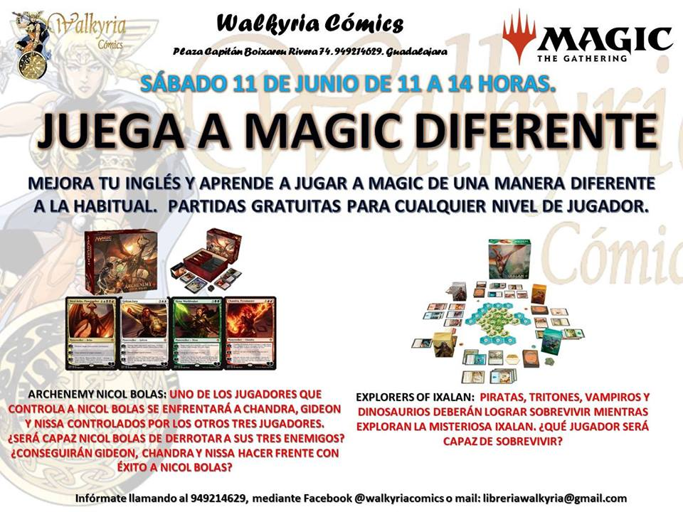 Juega a Magic diferente. Archenemy Nicol Bolas y Explorers of x