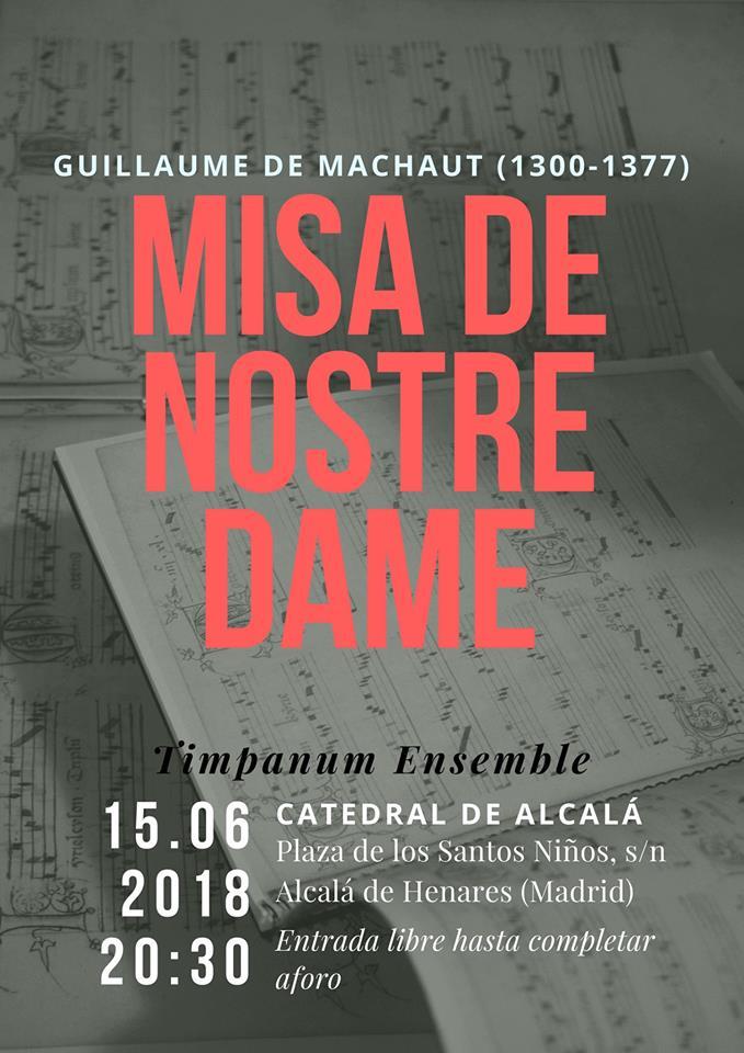 Machaut: Misa de Nostre-Dame @Alcalá de Henares