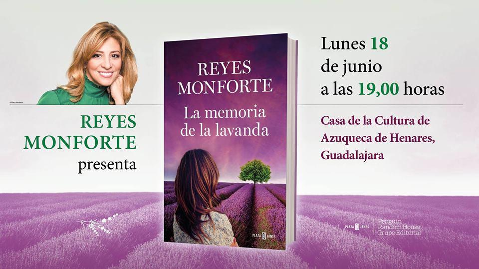 Reyes Monforte presenta su nueva novela en Azuqueca de Henares