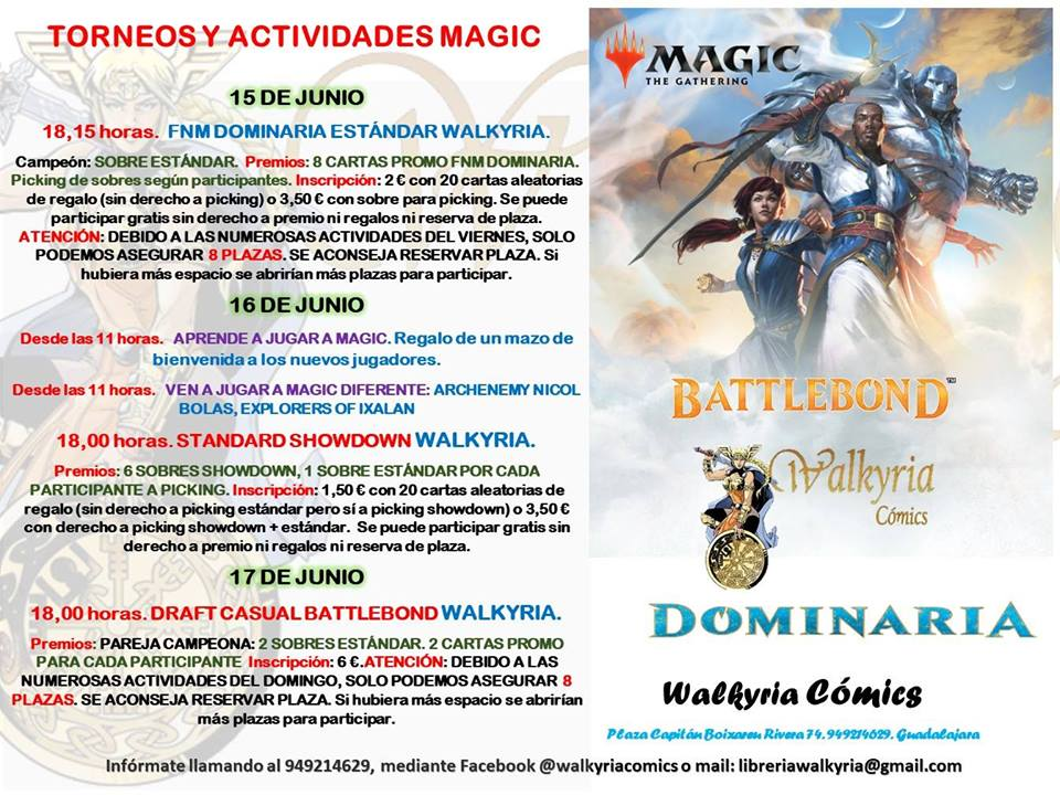 Ven a jugar a Magic a la tienda del 11 al 17 de Junio