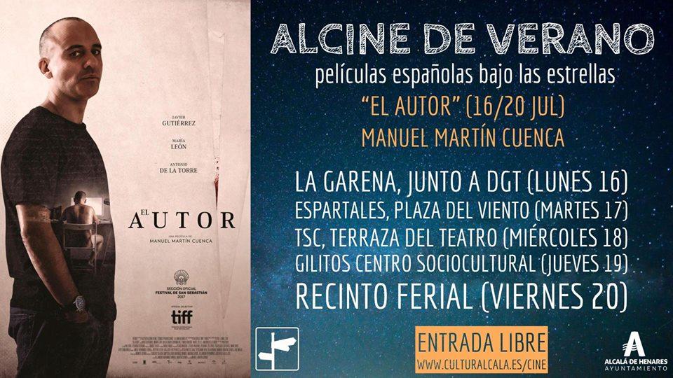 """ALCINE de verano, """"El autor"""", de Manuel M. Cuenca. Entrada libre"""