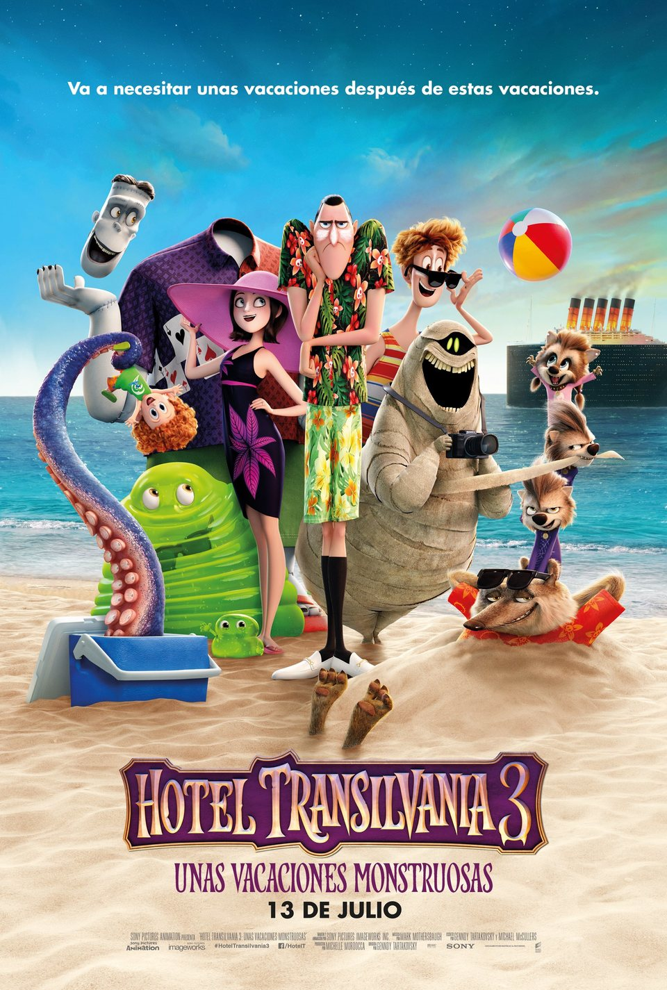 HOTEL TRANSILVANIA 3: UNAS VACACIONES MONSTRUOSAS Multicines Guadalajara