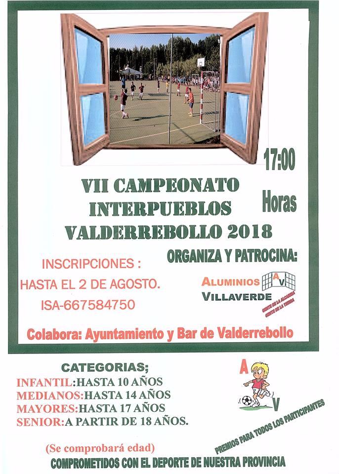 VII Campeonato Interpueblos.Valderrebollo 2018