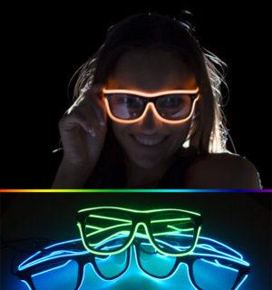 ea0264abeb 3 modos rápido el intermitente LED Gafas luminosa partido Iluminación  colorido brillante Juguetes clásicos para DJ luz brillante regalo de  vacaciones -