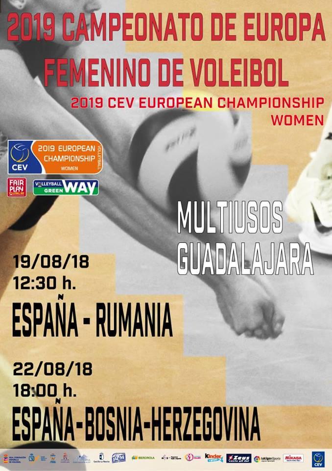 España – Rumania femenino- Clasificación Campeonato de Europa