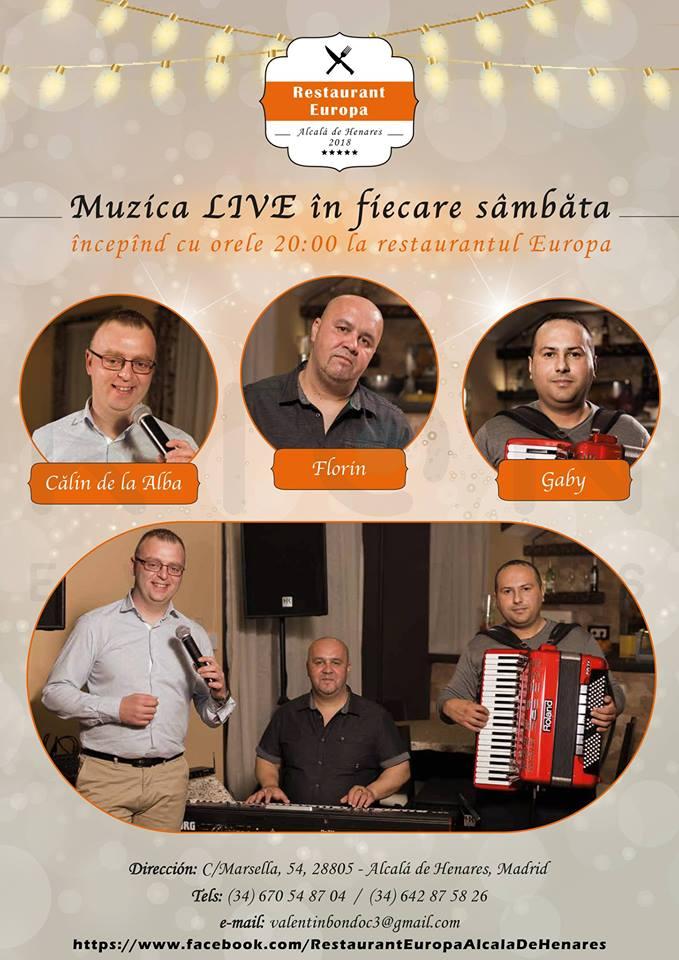Muzica Live – Restaurant Europa