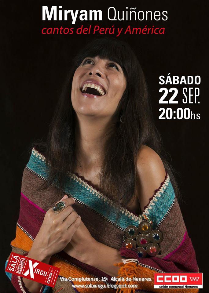 Cantos del Perú y América – Miryam Quiñones en Alcalá de Henares