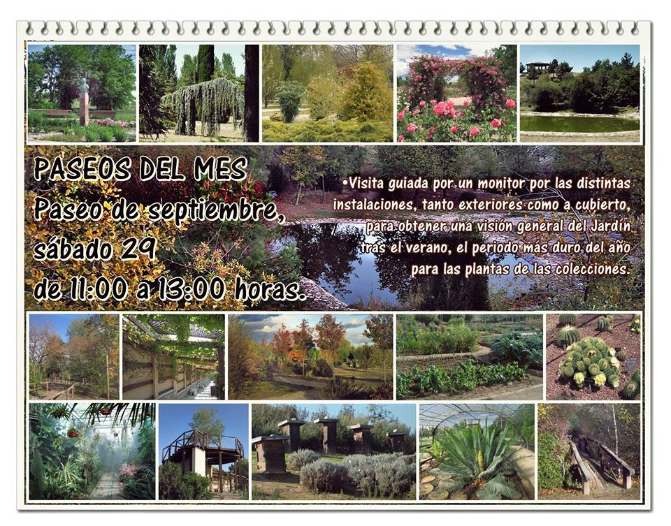 Paseos del mes del Jardín Botánico Septiembre