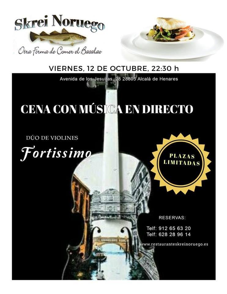 Cena con Musica en Direscto-Duo de Violines