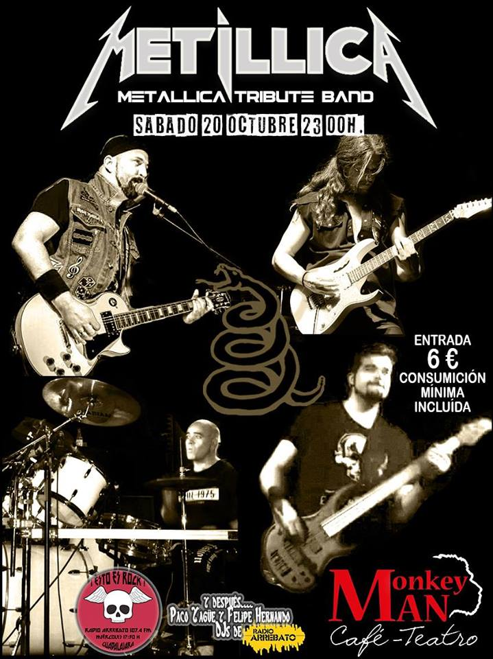 Metillica (Metallica Tribute Band) en concierto