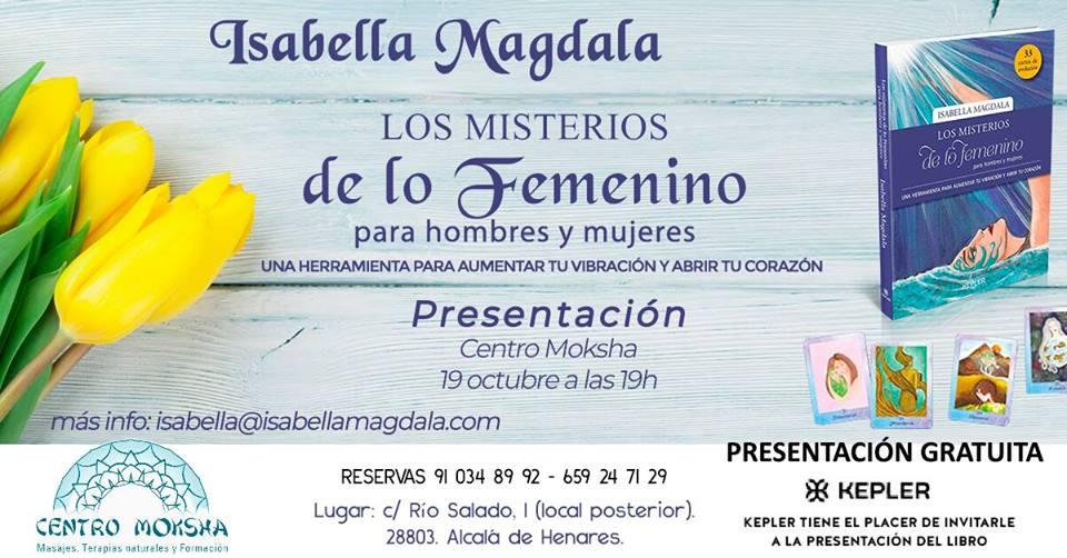 Presentación gratuita libro cartas Los Misterios de lo femenino
