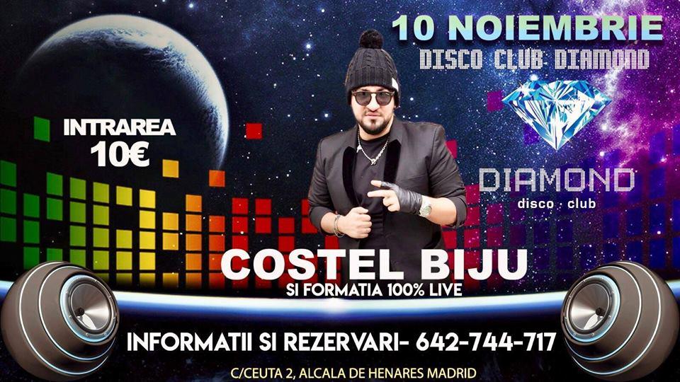 Sâmbătă 10 Noiembrie Costel Biju Live!!!
