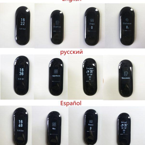 d5c16c6931c5 Original Xiao mi banda 3 pulsera inteligente 5ATM impermeable ...